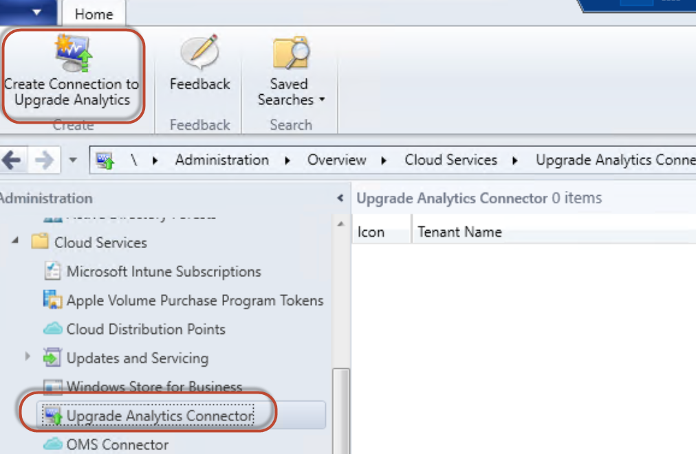 Upgrade Analytics Connector in Configuration Manager console